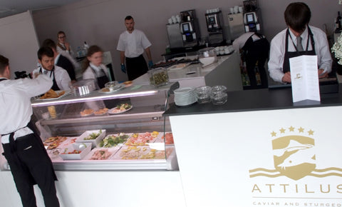 Pop Up Attilus Caviar Bar at Glorious Goodwood