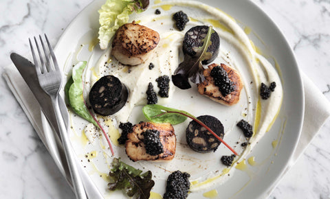 Seared Scallops and Caviar - Attilus Caviar