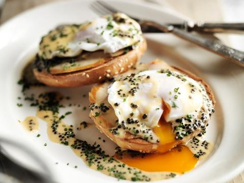 Bagels with Smoked Sturgeon and Caviar - Attilus Caviar