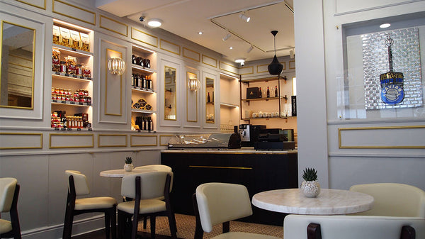 Inside of the Attilus Caviar Shop in London