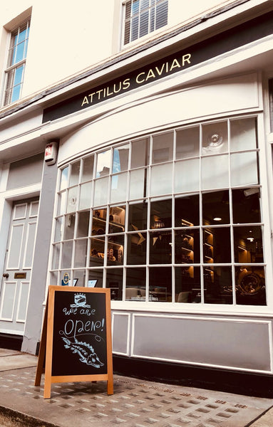 Front of the Attilus Caviar Shop in London