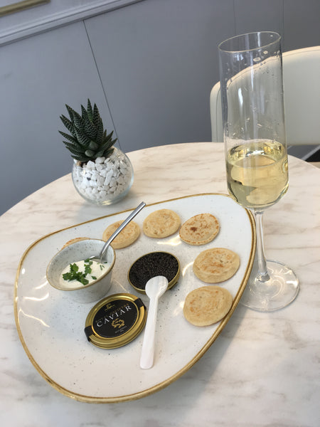 Dish made at the Attilus Caviar Store in London