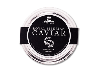 Royal Siberian Caviar in a glass jar