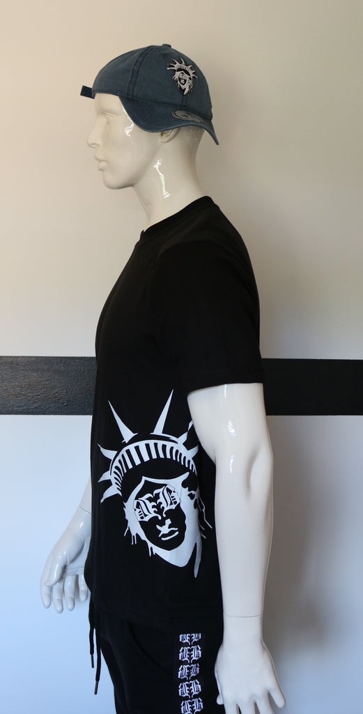 "BBNYC ""Liberté"" Black Short Sleeve T Shirt"