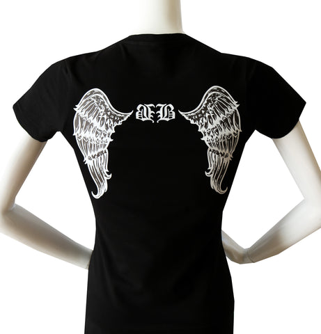 "BBNYC ""Angel"" Black Short Sleeve Tee"