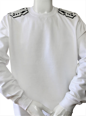 BBNYC Shoulder Patch Stylish Fit  Cocaine White