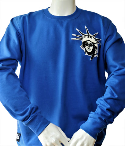 BBNYC Stylish Fit Royal Blue Crew Neck