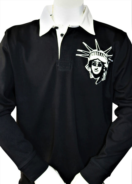 BBNYC Black Classic Vintage Rugby Shirt
