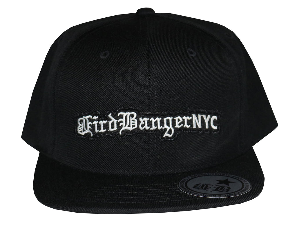 BirdBangerNYC Black Patch Snapback