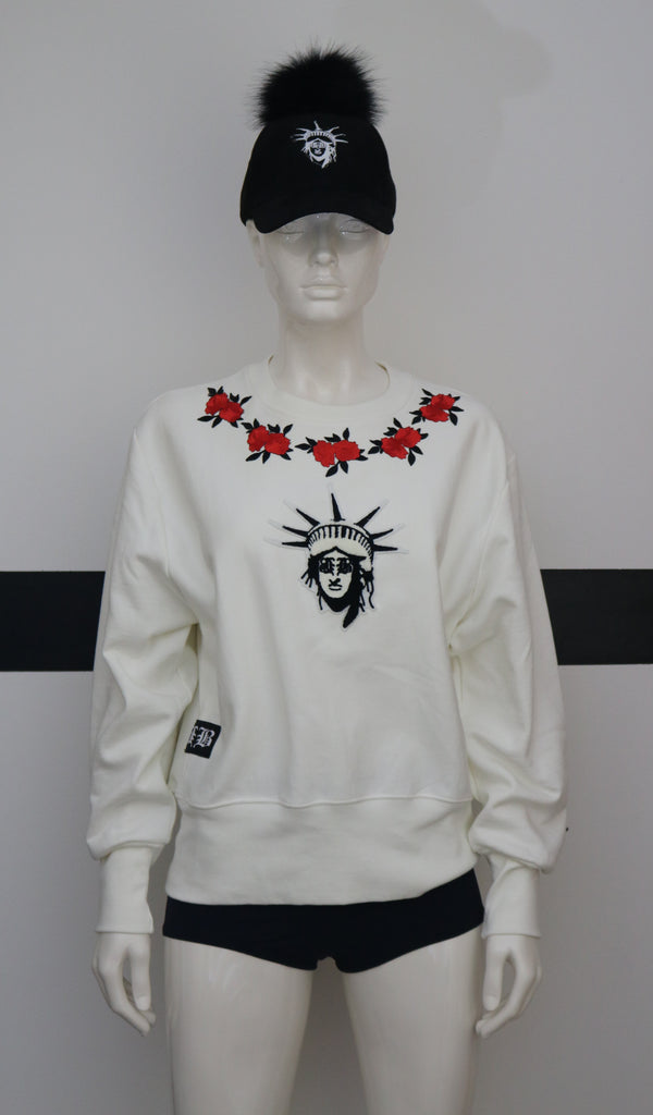 BBNYC Red Rose Thorn Stylish Crew Neck