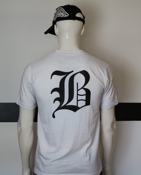 BBNYC White Back2Back  short Sleeve Logo T Shirt