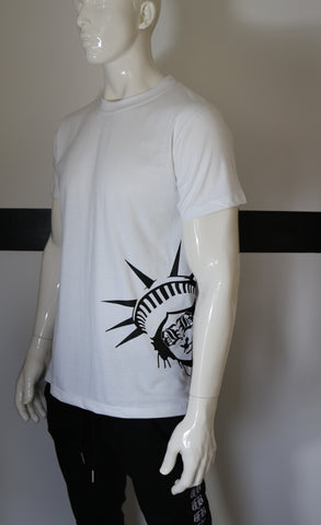 "BBNYC ""Liberté"" White Short Sleeve T Shirt"
