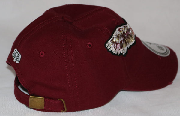 Burgundy Custom BBNYC Kiss Of Death Dad Hat