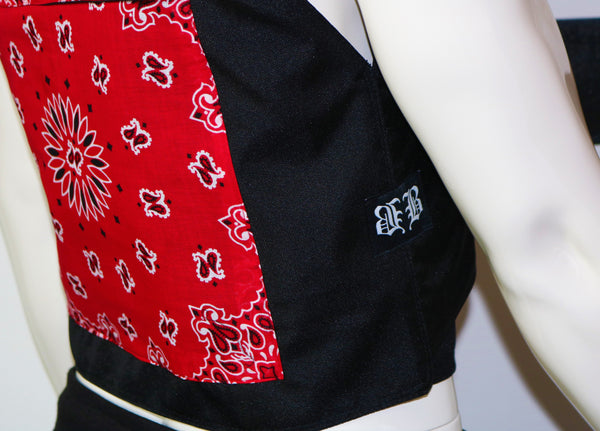 BBNYC Red Custom Bandana Vest