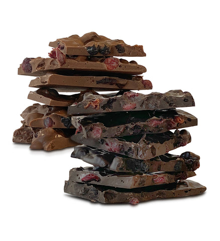 1lb Very Berry Bark, Milk or Dark Chocolate