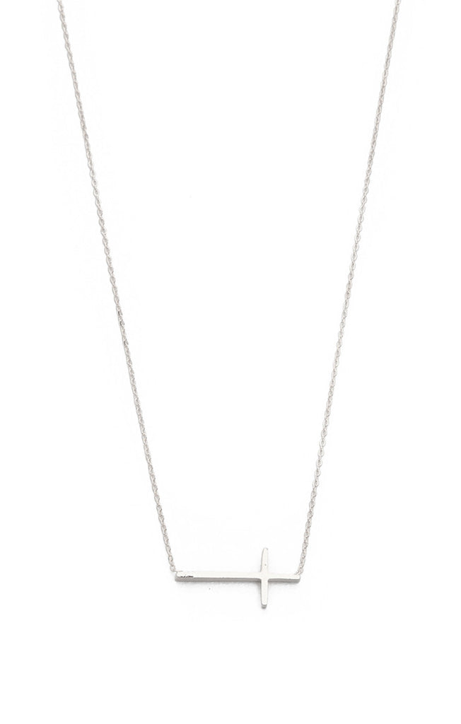 Simple Chain Cross Necklace
