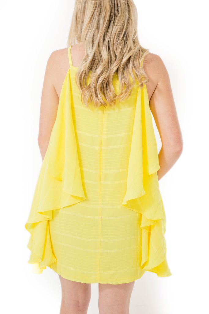Ruffled Sleeveless Dress