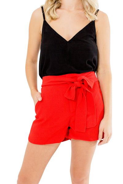 Red Short with Waistband