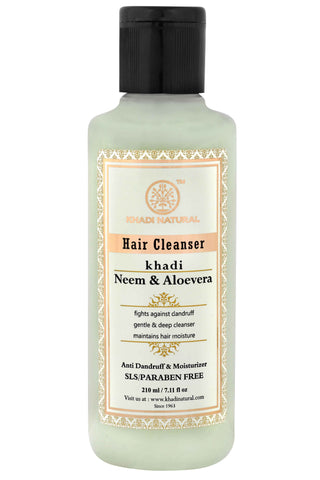 Ayurvedic Neem & Alovera Shampoo-  Fight Against Heavy Dandruff, Flaky & Unhealthy Scalp, SLS & PARABEN FREE