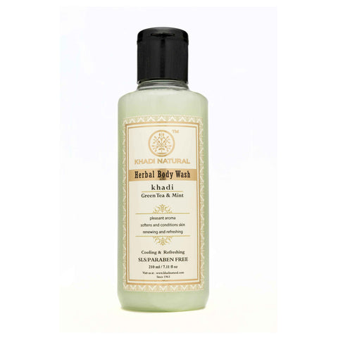 Ayurvedic Green tea & Mint Body Wash.  Washes Away Dirt , Softens Dry Skin, Gently Cleanses & Moisturizes Skin. SLS & PARABEN FREE