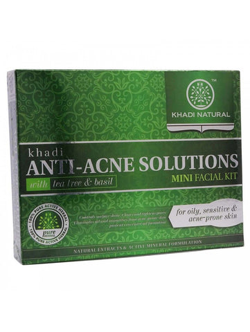 Anti-Acne Solutions Mini Facial Kit (With Tea Tree & Basil) - Ohm Healthcare
