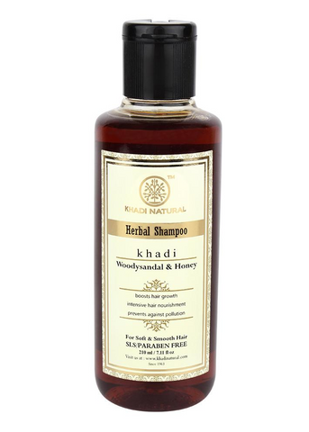 Ayurvedic Woody Sandal & Honey Shampoo- Softens & Nourishes Hair and keeps hair smooth and silky. SLS & PARABEN FREE