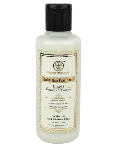 Ayurvedic Green tea & Aloe vera Hair Conditioner- Cleanses The Dirt and Grim, Detangles Hair. SLS & PARABEN FREE