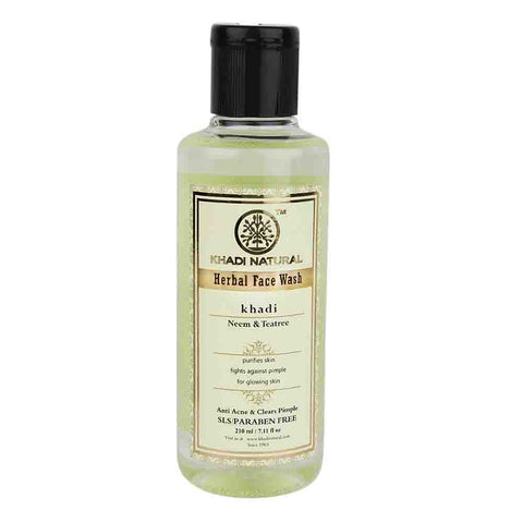 Ayurvedic Neem & Teatree Face Wash -Clears Toxins & Wash Away The Impurities, Helps In Controlling Pimples .  SLS & PARABEN FREE