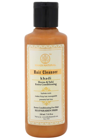 Ayurvedic Henna & Tulsi extra conditioning Shampoo - for Dry Hair SLS & PARABEN FREE