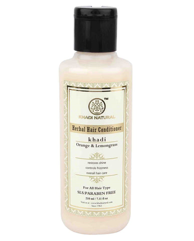 Ayurvedic Orange & Lemongrass Hair Conditioner - Restores Shine & Elasticity, Controls Friziness. SLS & PARABEN FREE