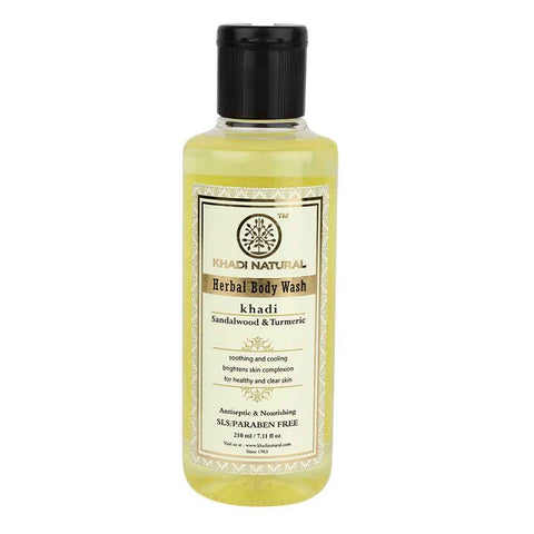 Ayurvedic Sandalwood & Tumeric Body Wash-Sooth Harsh Sunburns & Clears Skin Tanning, Has Anti Ageing Properties. SLS & PARABEN FREE
