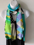 Silk Art Collage Scarf Jazz Mix