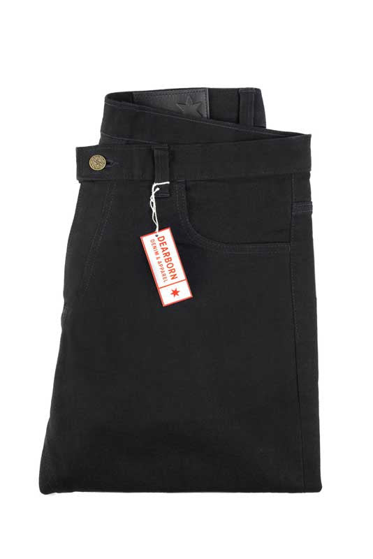 Slim Fit - Black Denim Jeans - Backside Folded