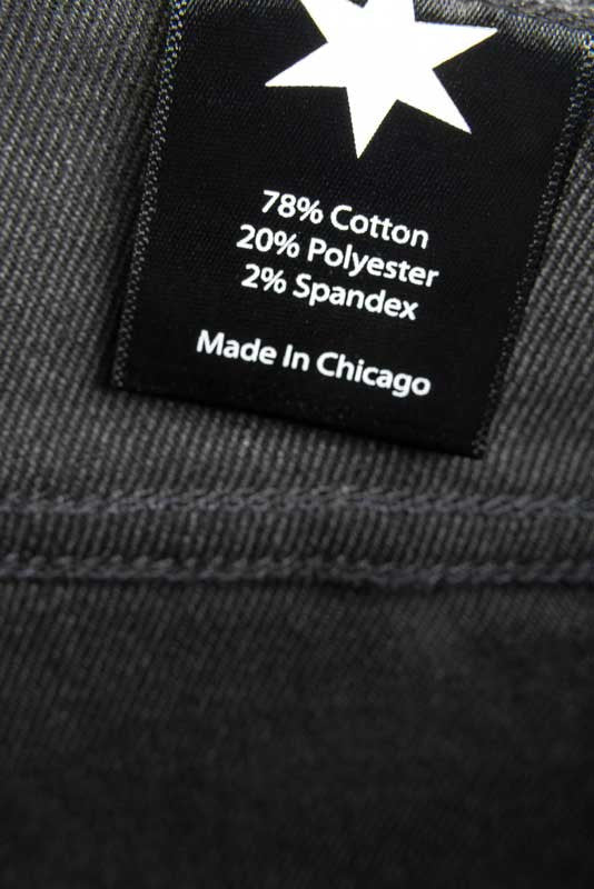 Slim Fit - Black Denim Jeans - Inside Tag: Made In Chicago