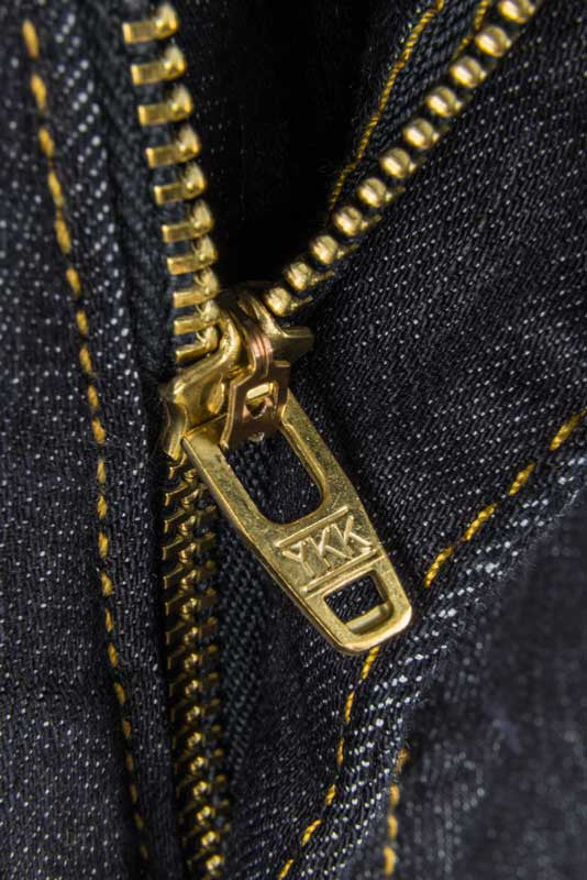 Tailored Fit Dark Wash Denim Jeans - YKK Zipper Made At Their American Plant