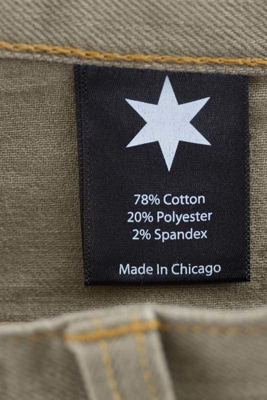 Slim Fit - Khaki Denim Jeans - Inside Tag: Made In Chicago