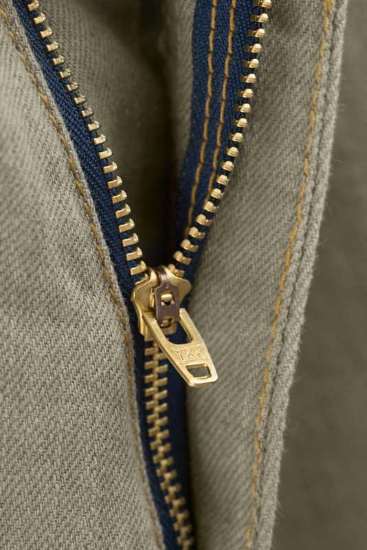 Slim Fit - Khaki Denim Jeans - YKK Zipper Made At Their American Plant