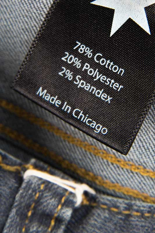 Tailored Fit Medium Wash Denim Jeans - Inside Tag: Made In Chicago