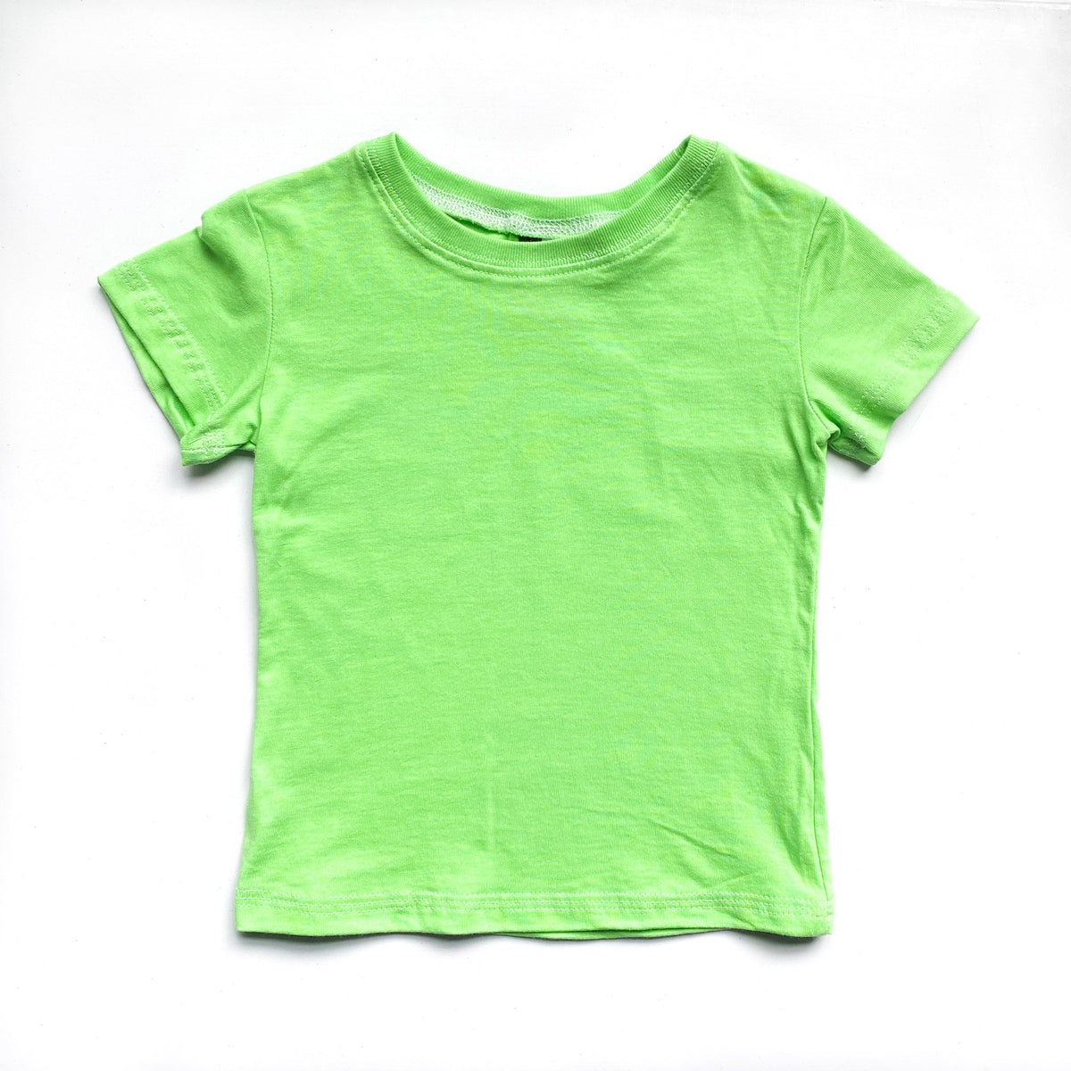 Kids' Classic color:Bright Green Combed Cotton Kids' T-shirts New T-shirts