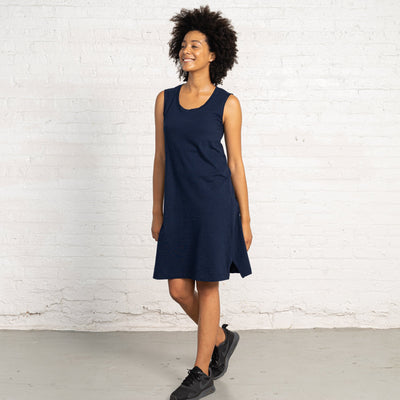 Color:Navy Combed Cotton New T-shirt Dress Women's T-shirts