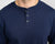 Classic Color:Navy Combed Cotton Henleys Mens's Henleys
