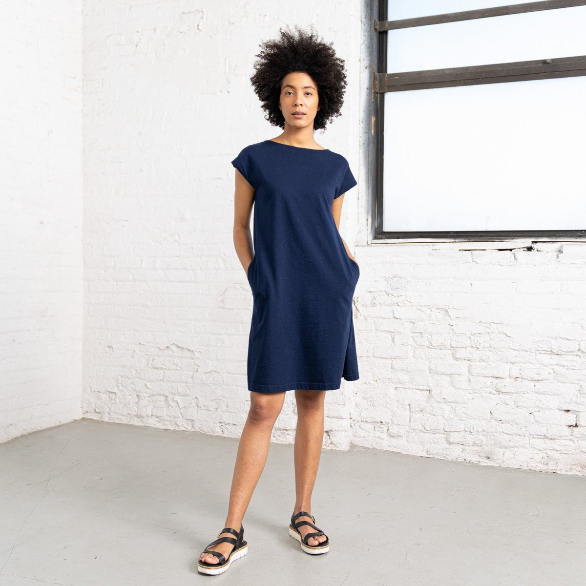 Color:Navy Combed Cotton New