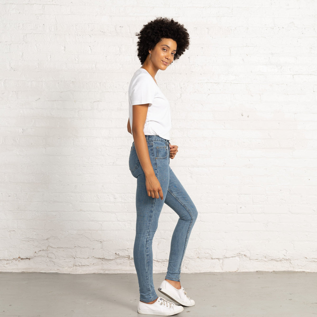 Mary Light Stretch Denim Jeans Women's Jeans