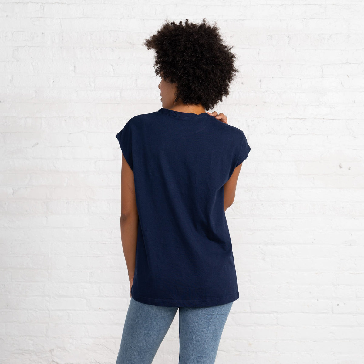 Dolman T Color:Navy Combed Cotton New T-shirts Women's T-shirts