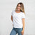Color:White Combed Cotton T-shirts Women's T-shirts