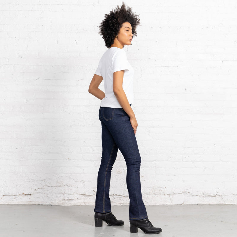 Boot Cut Dark Dark 10oz Stretch Denim Women's Jeans