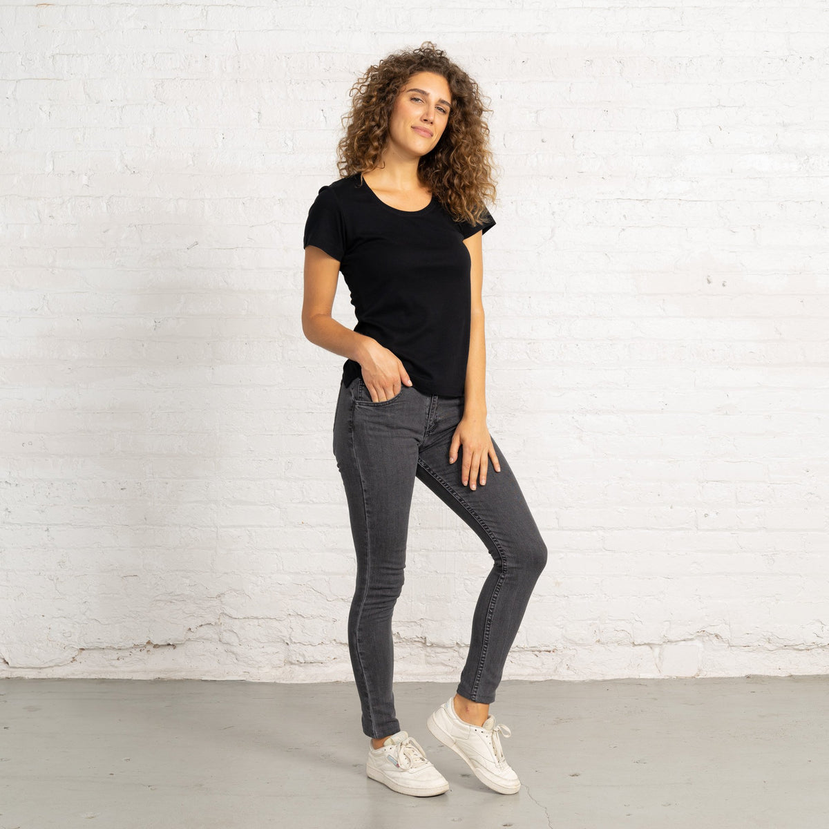 Lucy Grey Stretch Denim Jeans Women's Jeans