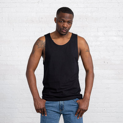 Color:Black Combed Cotton Men's Tank Tops