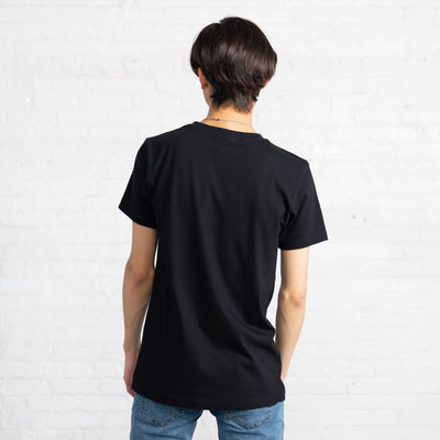 Fitted Color:Black Combed Cotton Men's T-shirts