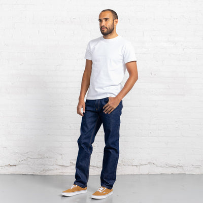 Tailored Fit Dark Dark 13oz Cotton Denim Jeans Men's Jeans